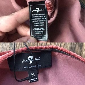 7 For All Mankind Dresses - 7FAM Velvet Slip Empire Shift Midi Dress Copper